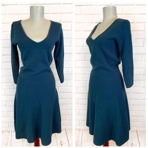 Boden • Green V-Neck Sweater Dress
